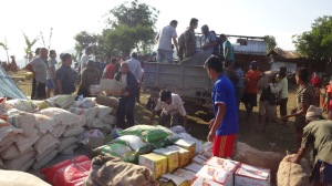 Unloading Supplies from the Truck